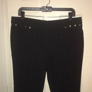 Women's Black Stretch Pants Size L